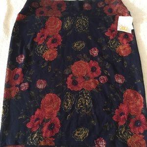 NWT 3X Cassie Navy & Orange Floral